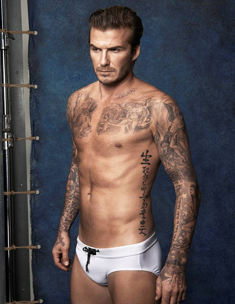 For David Beckham Tattoos Signify Different Meanings. Take A Look at His Tattoos!